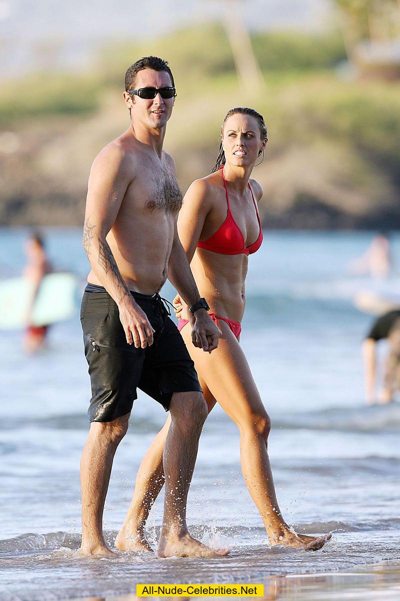 Amanda Beard Playboy Pics amanda beard in red bikini on a beach