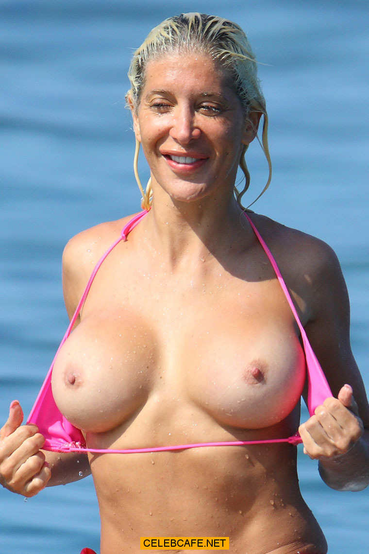 Angelique Frenchy Morgan Naked angelique morgan topless surfing, shows boobs and ass