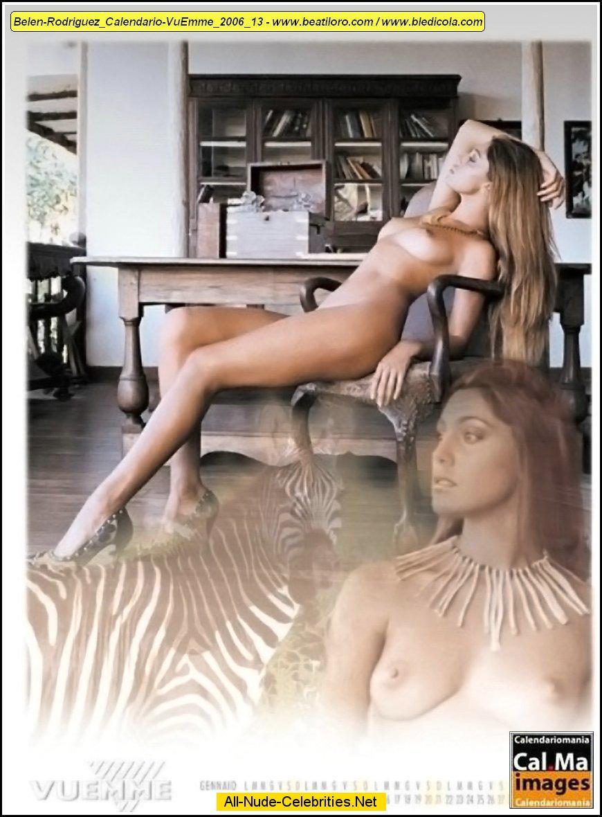 Calendario Belen Nuda.Belen Rodriguez Naked Scans From Her Calendars