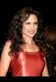 Andie MacDowell pokies in tight dress
