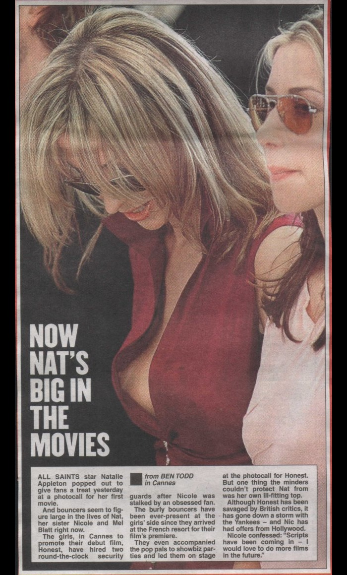 Natalie Appleton nipple slip paparazzi photo