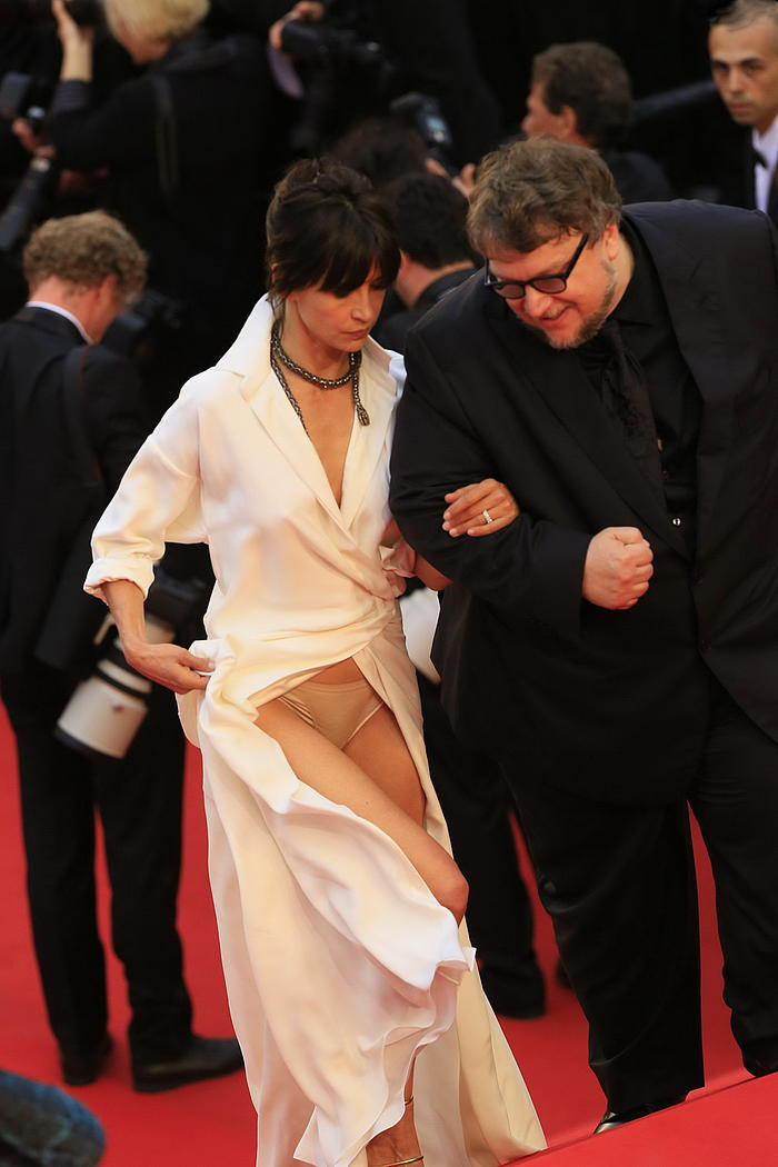 Sophie Marceau upskirt, shows her pants at Cannes Festival