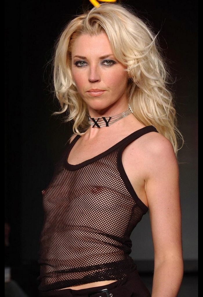 Tamara Beckwith small nude tits under see through top