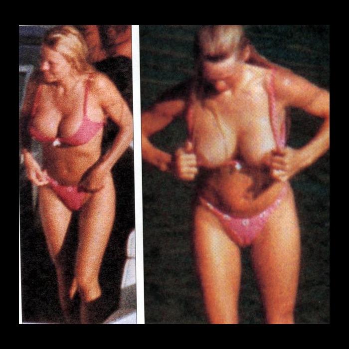 Pamela Anderson boobslip on a yacht paparazzi shots