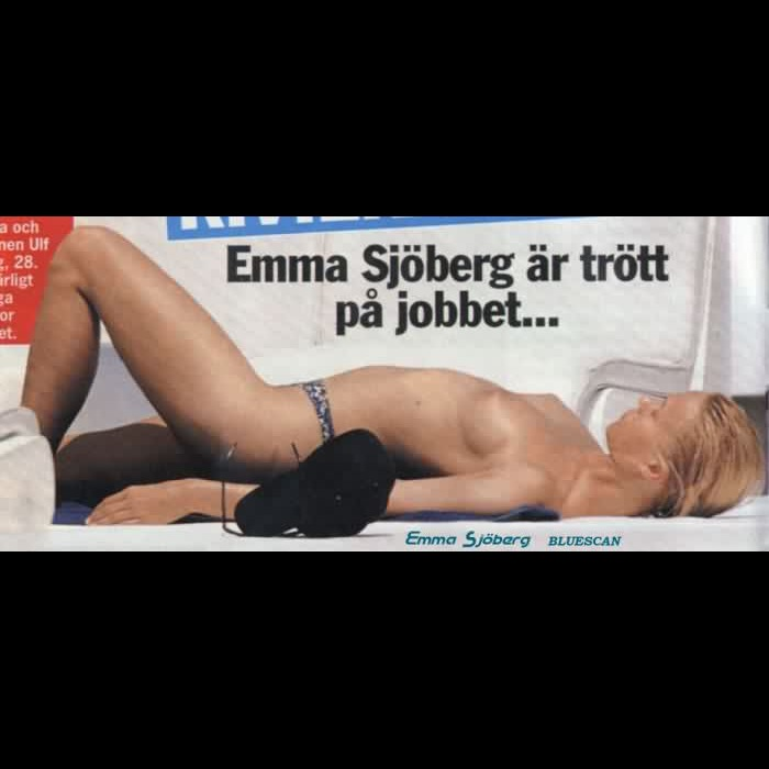 Emma Sjoeberg sunbathing topless