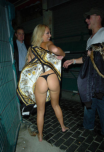 Aisleyne Horgan-Wallace exposed her ass in public