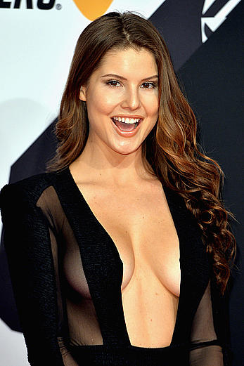 Amanda Cerny looking sexy at MTV EMA 2015 in Milan