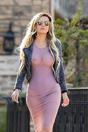 Ana Braga in see through dress
