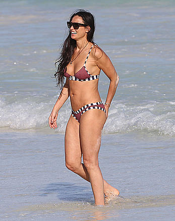Demi Moore wearing a bikini in Mexico