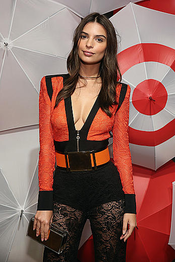 Emily Ratajkowski sexy cleavage at TargetStyle in Vogue at Cedar Lake