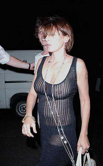 Sadie Frost nude boobs under see through dress