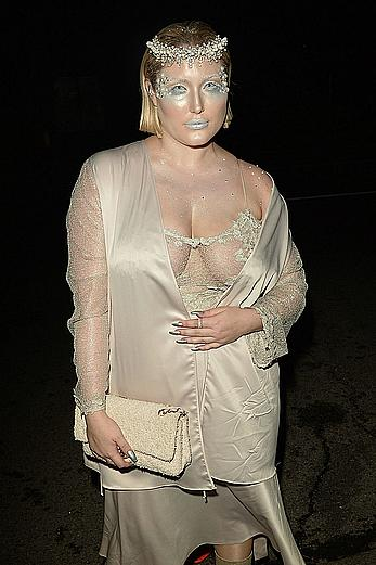 Hayley Hasselhoff at Just Jared annual Halloween party