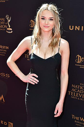 Hunter Haley King sexy cleavage at 43rd Annual Daytime Emmy Awards