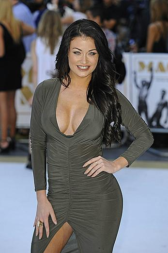 Busty Jess Impiazzi deep cleavage at Magic Mike XXL Premiere