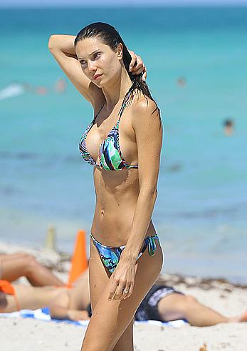 Julia Pereira looking sexy in bikini in Miami