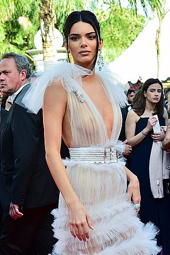Kendall Jenner in see through dress at Girls Of The Sun premiere in Cannes