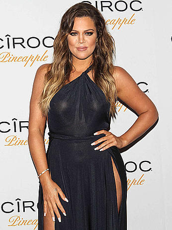 Khloe Kardashian see through at French Montana birthday party