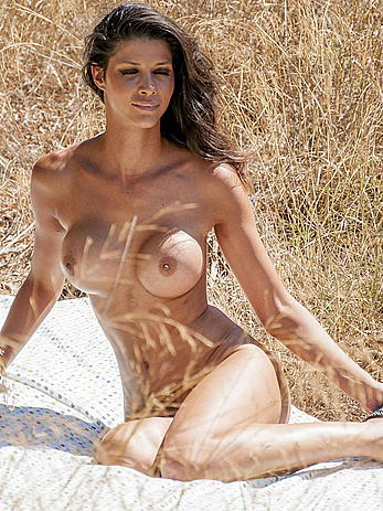 Busty Micaela Schaefer naked in nature behind the scene