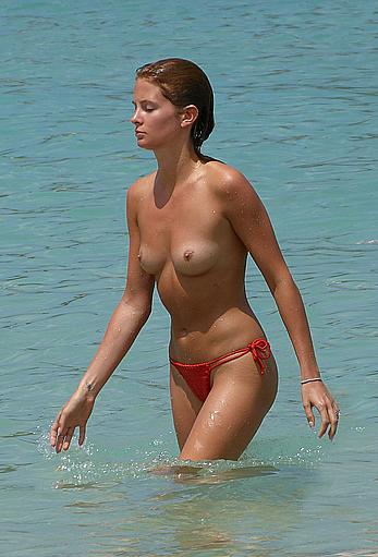 Millie Mackintosh caught topless in Ibiza