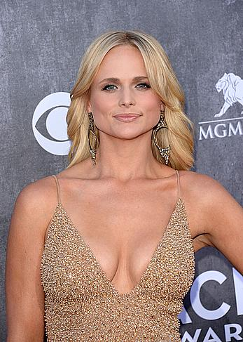 Miranda Lambert nice cleavage at the 49th Annual Academy Of Country Music Awards in Las Vegas