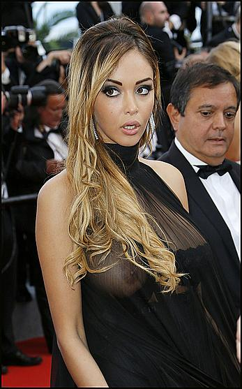 Nabilla Benattia wardrobe malfunction at Cannes Film Festival
