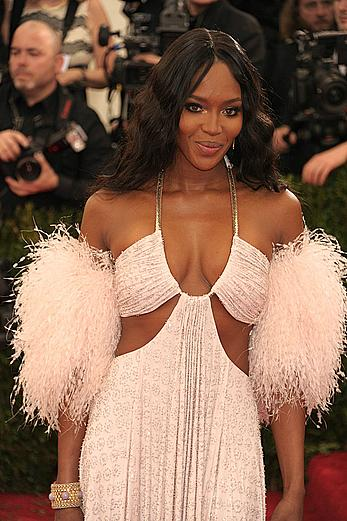 Naomi Campbell sexy cleavage at 2014 Costume Institute Benefit Metropolitan Museum of Art