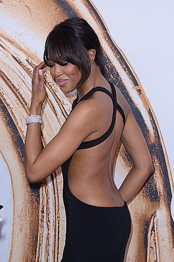 Naomi Campbell posing at CFDA Fashion Awards