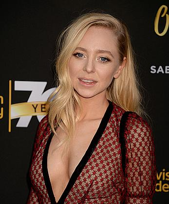 Portia Doubleday posing at Television Academy 70th Anniversary Celebration