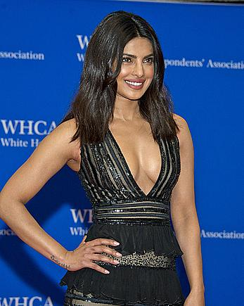 Indian actress Priyanka Chopra posing at White House Correspondents Dinner