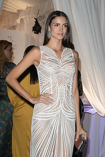 Sofia Resing in see through dress at the Rihannas 3rd Annual Clara Lionel Foundation Diamond Ball