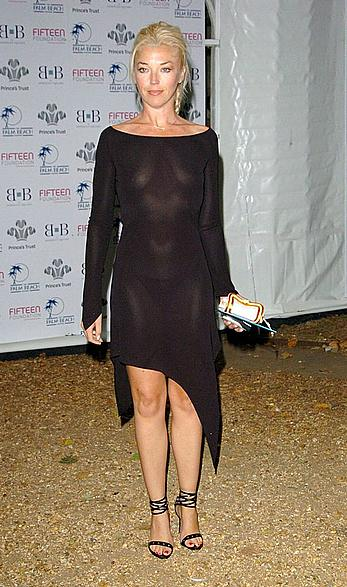 Tamara Beckwith small nude tits under see through dress