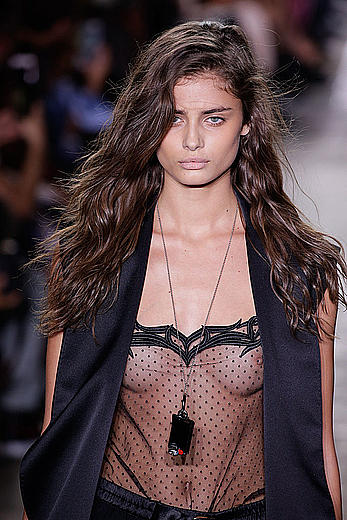 Taylor Marie Hill see through dressed at Alexander Wang Spring 2017 Show at NY Fashion Week