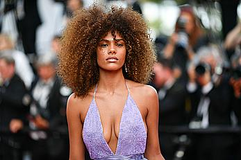Tina Kunakey sexy cleavage at Cannes Film Festival