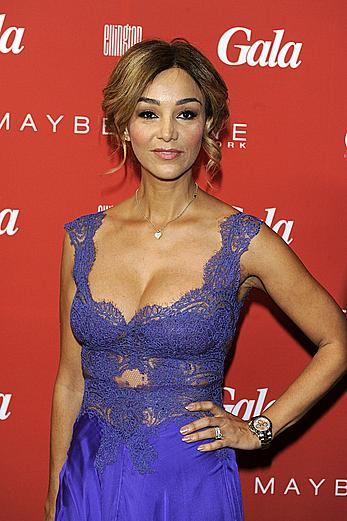 Verona Pooth sexy cleavage at MBFW-Gala Fashion Brunch