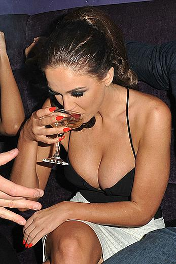 Drunk Vicky Pattison deep cleavage in a pary