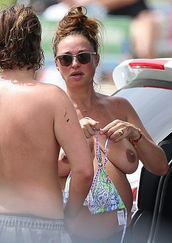 Pregnant Camilla Franks topless