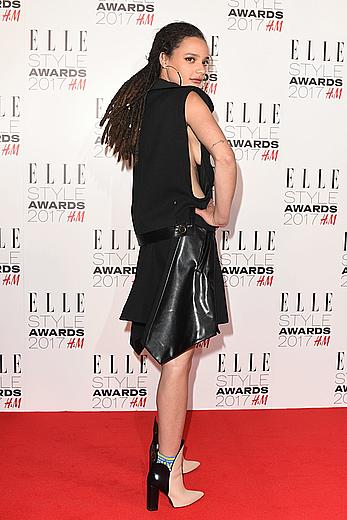 Sasha Lane sideboob at Elle Style Awards in London