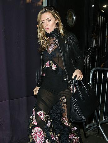 Abigail Clancy in see through dress at BNTM Launch in London