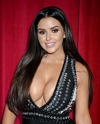 Abigail Ratchford deep sexy cleavage at 2016 Maxim Hot 100 Party