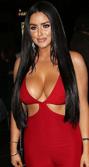 Busty Abigail Ratchford shows cleavage at Babes in Toyland Charity Holiday Party