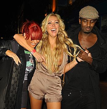 Drunk Aisleyne Horgan-Wallace wardrobe malfunction