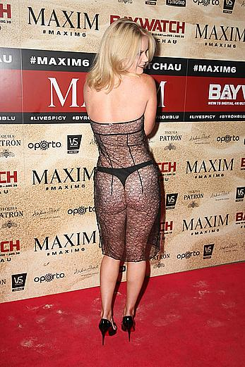 Alana Wolfe wears a see through dress at Maxim Magazine's Baywatch Themed 6th Birthday Party