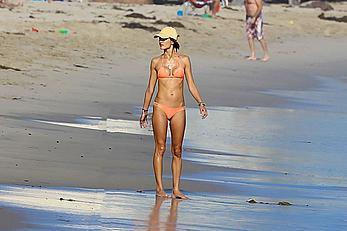 Alessandra Ambrosio in bikini enjoying day on the beach in Malibu