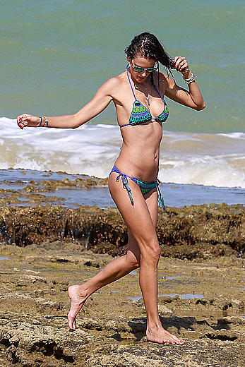 Alessandra Ambrosio sexy in bikini in Brazil
