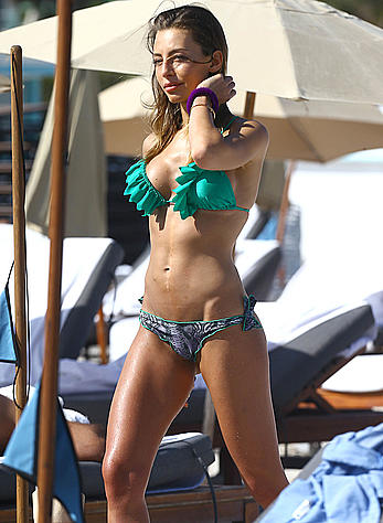 Alessia Tedeschi sexy in bikini on the beach in Miami