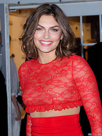 Alyssa Miller nude tits under see through red dress