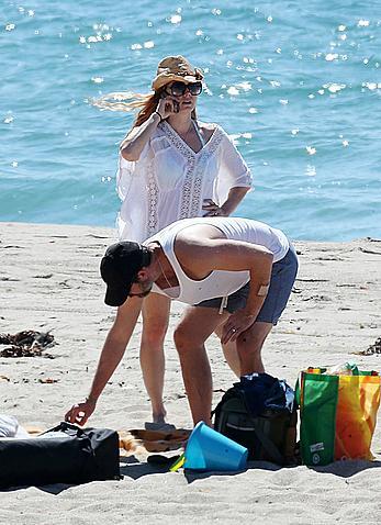 Amy Adams at the beach in Malibu
