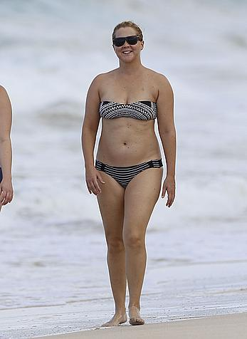 Amy Schumer in a bikini at a beach in Hawaii