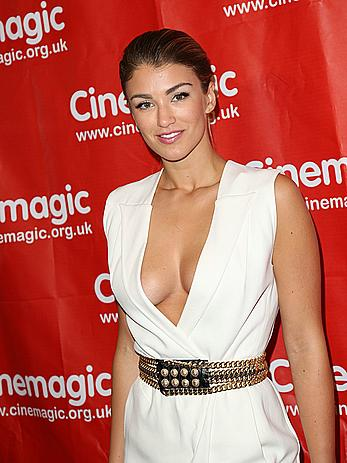 Amy Willerton sexy cleavage at Cinemagic s Los Angeles Showcase & sneak preview of Delicate Things