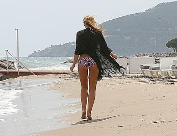 Amy Willerton in bikini at the beach in France